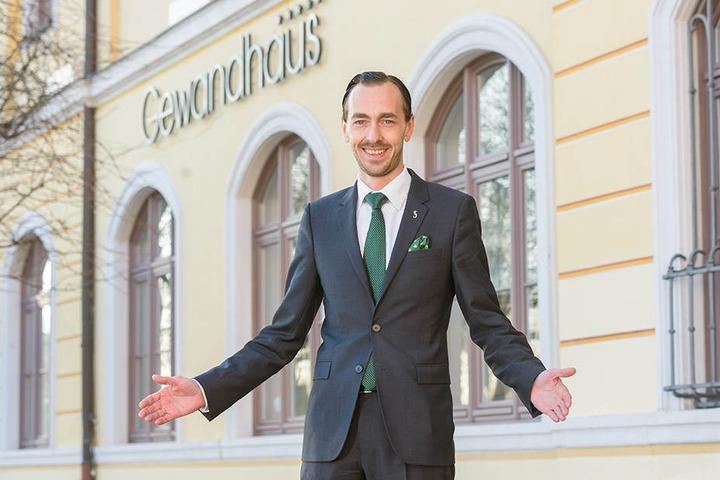 Florian Leisentritt (37), Direktor des Gewandhaus Hotels, freut sich auf Gäste aus Dresden  und Umgebung.