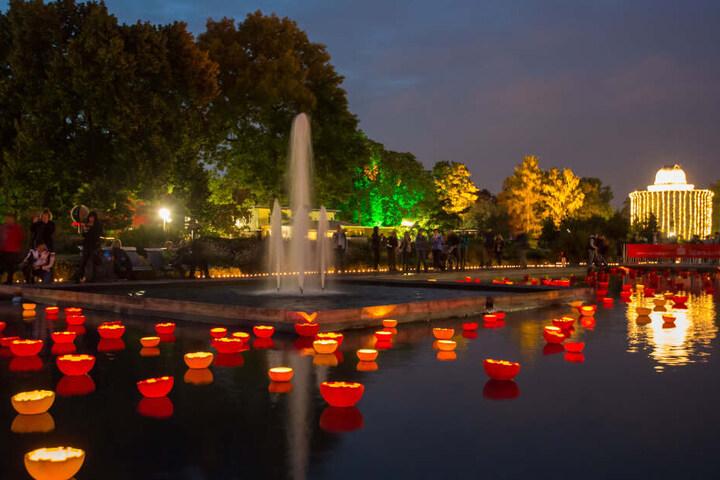 Ähnlich dem Lichterfest wird es im egapark überall leuchten.
