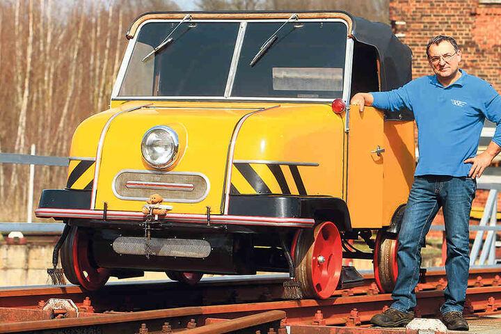 Go, Trabi, go: Im seltenen Kult-Auto chauffiert Thomas Krauß (51) seine Gäste  durch das idyllische Rochlitzer Muldental.