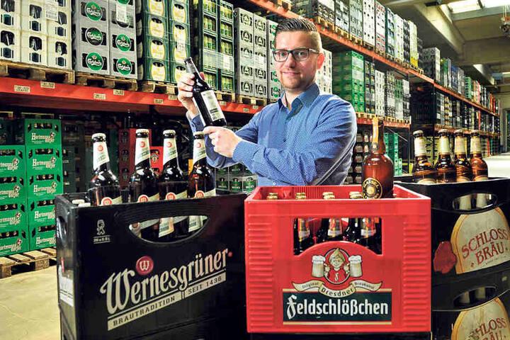 Biersommelier Marcus Hessel (34) weiß, warum die Chemnitzer gerne Bier  trinken.