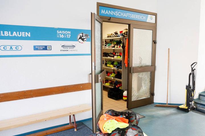 Einbrecher suchten in der Nacht zum Sonntag die Mannschaftskabine des CFC im Chemnitzer Sportforum heim.