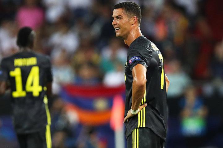 Konnte seinen ersten Platzverweis in der Champions League nicht verstehen und weinte bitterlich: Cristiano Ronaldo.