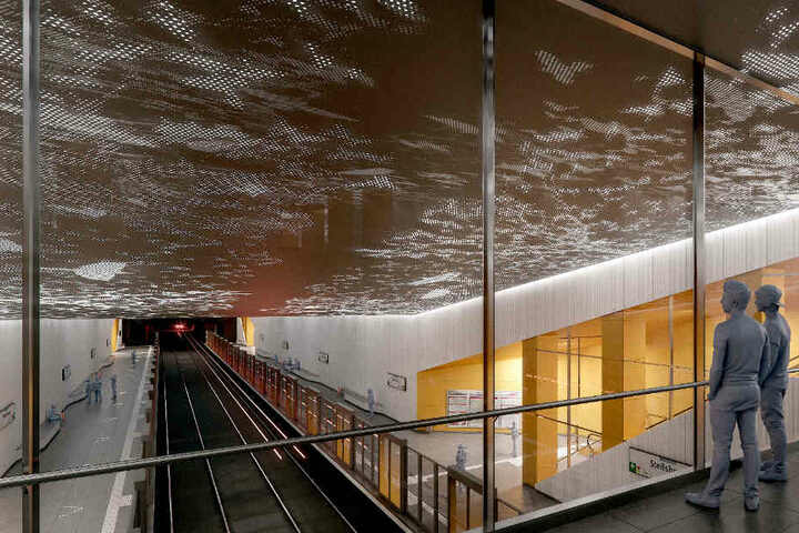 Sieger des Wettbewerbs um die Gestaltung der unterirdischen Haltestelle Steilshoop ist das Hamburger Architekturbüro Trapez.