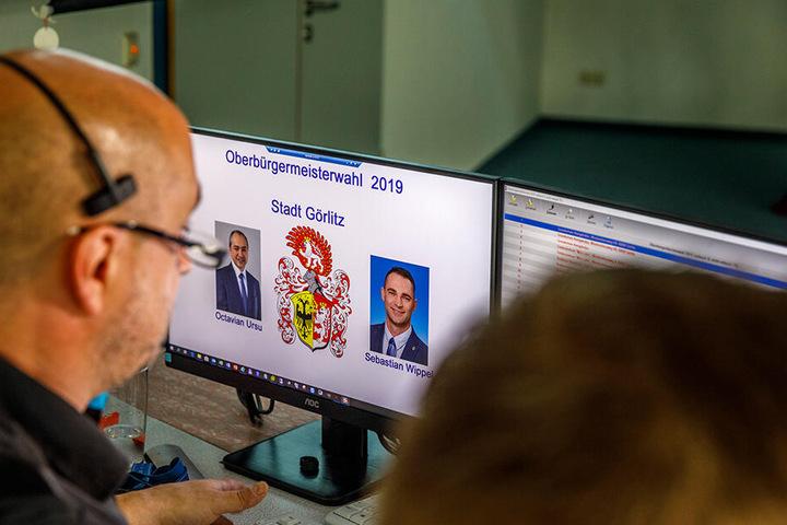 Im Technischen Rathaus der Stadt liefen die ausgezählten Stimmen der Wahlbezirke ein.