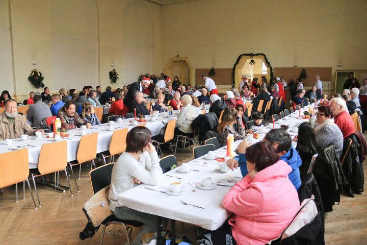 Im Raum der Stadtmission ist Platz für knapp 200 Menschen.