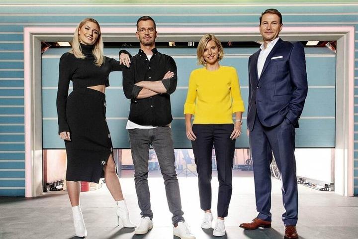 Die Jury: Lena Gercke, Joko Winterscheidt, Lea-Sophie Cramer und Hans-Jürgen Moog (von links).