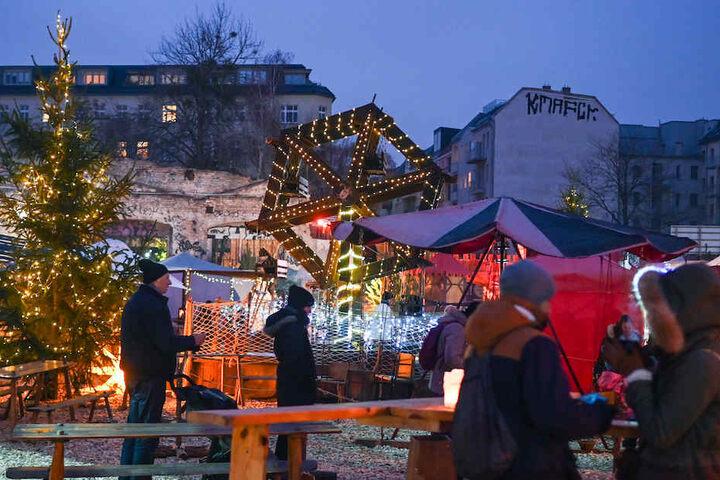 Der Weihnachtsmarkt auf dem RAW-Gelände.