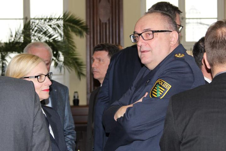 Zwickaus Polizeipräsident Conny Stiehl (61) war ebenfalls mit von der Partie.