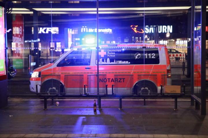 Auch ein Rettungswagen war im Einsatz.