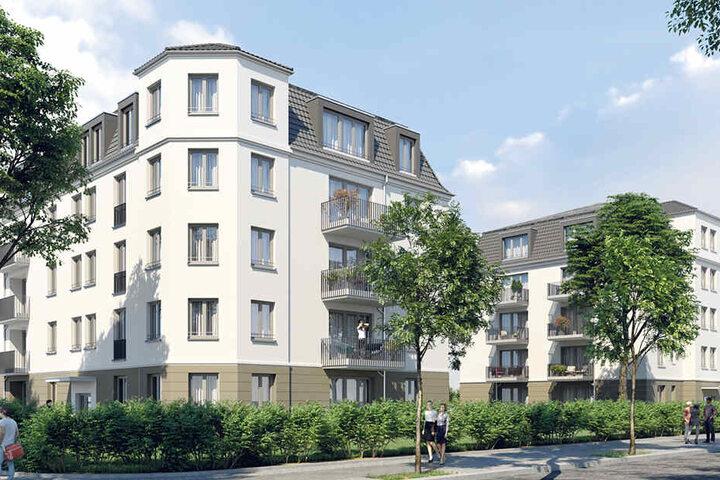So schick sollen die 35 Wohnungen an der Alemannenstraße aussehen.