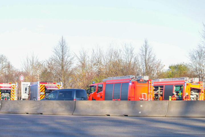 Die Feuerwehr vor Ort.