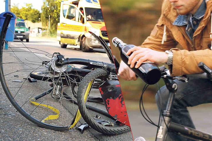 Betrunken im Sattel um den Schloßteich? Ab 1,6 Promille ist der Autoführerschein futsch und der Fahrer muss zur MPU.