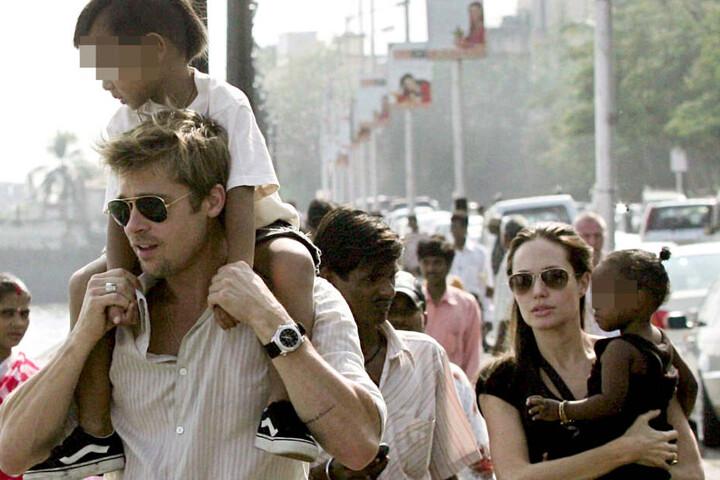 Mit ihrem Noch-Ehemann Brad Pitt konnte sie alle Familienaufgaben teilen.