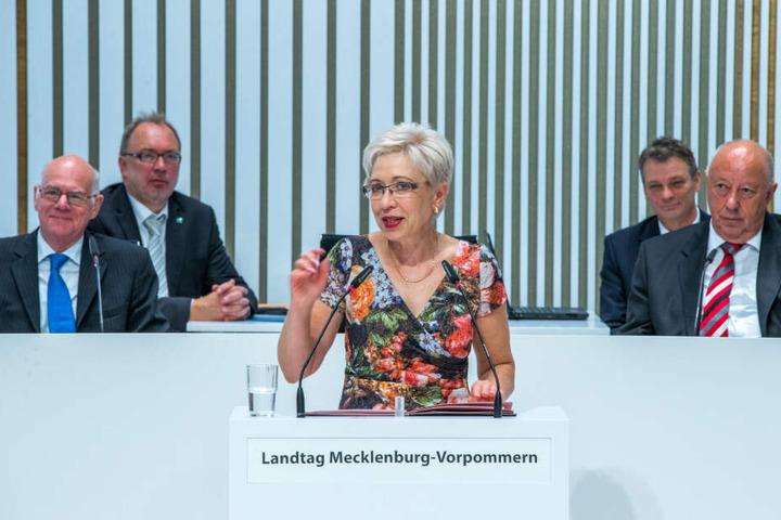 Im September 2017 sprach Sylvia Bretschneider zu den Abgeordneten bei der feierlichen Eröffnung des neuen Landtags.
