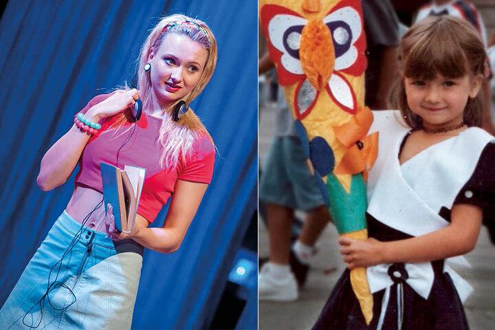 Auf der Bühne gibt Alice Erk (24) die äußerst frivole Klassengöre. Ihre Zuckertüte war einst mit einem Schmetterling verziert.