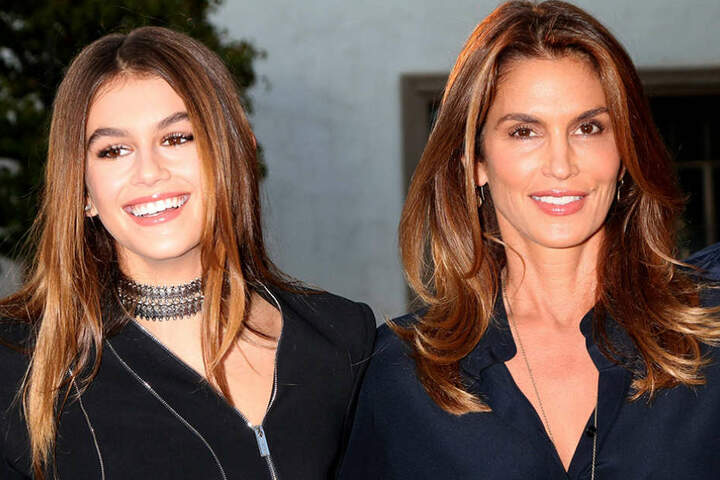 Wie die Mutter, so die Tochter: Mit ihren 14 Jahren stehen bei Kaia alle Zeichen auf Weltkarriere.