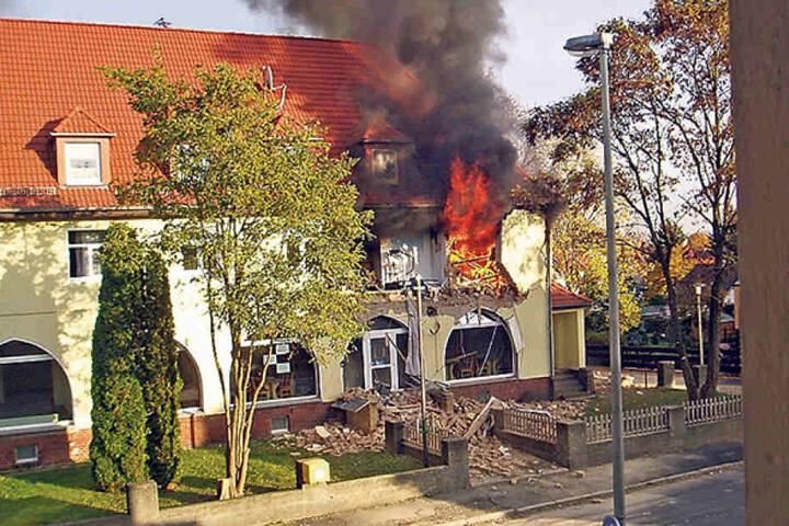 Das letzte NSU-Domizil, die Frühlingsstraße in Zwickau. Am 4. November 2011  zündete Beate Zschäpe die Wohnung an - stark betrunken, wie inzwischen bekannt  ist.