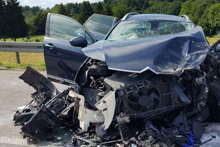 Mit diesem Wagen krachte der 56-jährige Citroen-Fahrer in den Lkw.