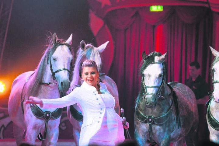 Viel Applaus zur Premiere, auch für Stephanie Probst und ihre beeindruckende Pferde-Nummer.