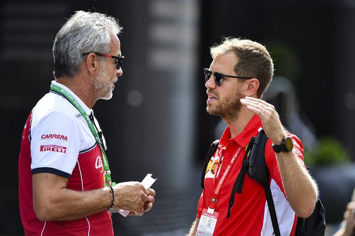 Sebastian Vettel trägt hier schon seinen Ehering.
