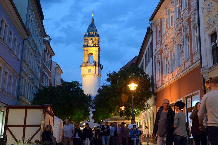 In der Innenstadt von Bautzen sorgten die Schüsse vor Aufregung.
