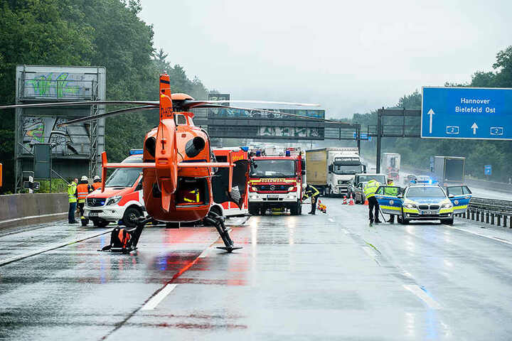 Der Rettungshubschrauber Christoph 13 wurde zur Unfallstelle gerufen.