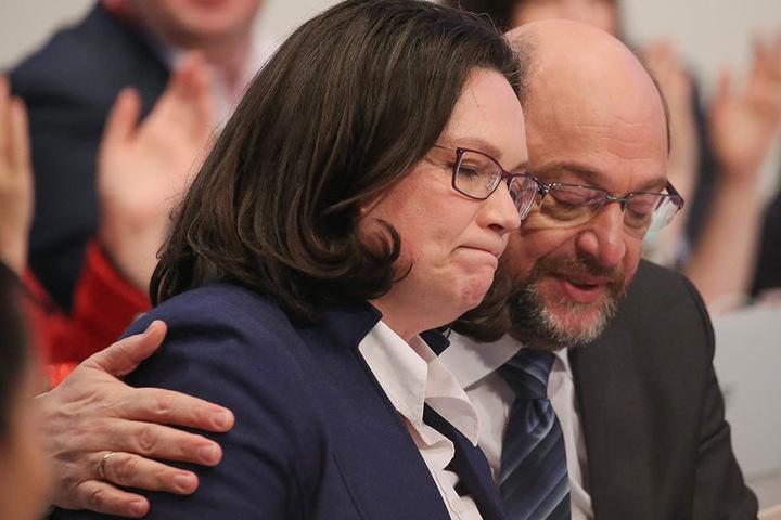 Andrea Nahles wird Martin Schulz als SPD-Chef ablösen.