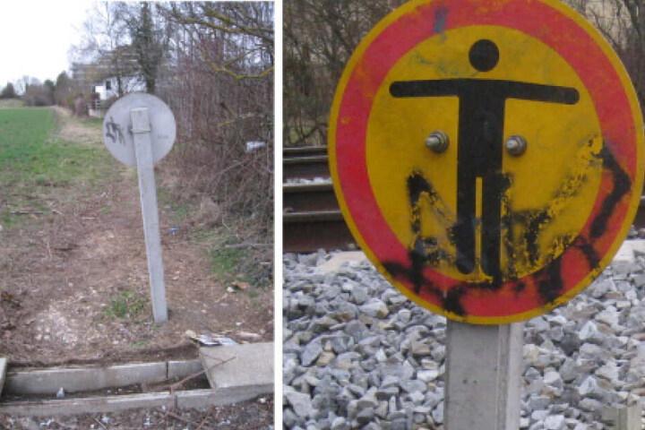 An derselben Stelle kam es laut Polizei schonmal zu einem Vorfall: Auch am Freitag hatten Unbekannte eine Betonplatte auf die Schienen gelegt.