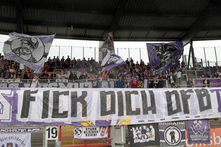 Auch die Botschaft an den DFB war deutlich, aber im legalen Rahmen.