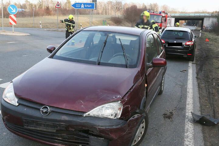 Beim Unfall soll es vier Verletzte gegeben haben.