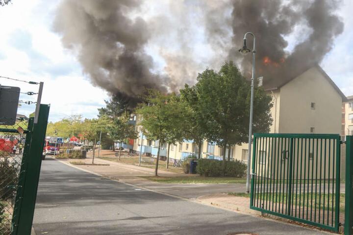 Am Samstagmittag stand in Bamberg ein Gebäude des dortigen Ankerzentrums in Flammen.