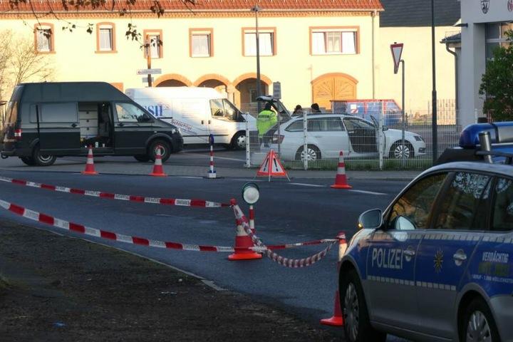 Der Tatort in Großbardau wurde abgesperrt.