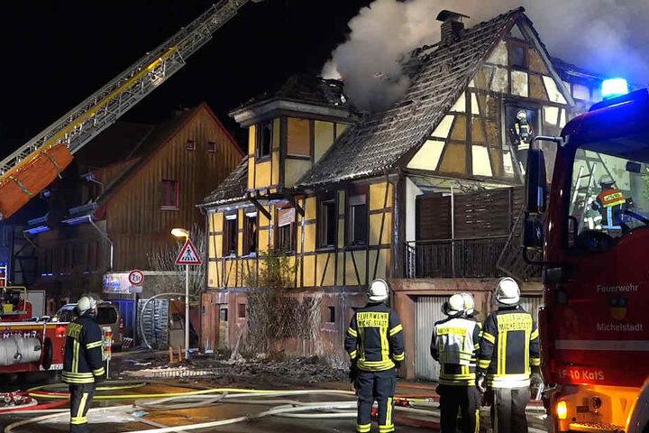130 Feuerwehrkräfte waren im Einsatz.