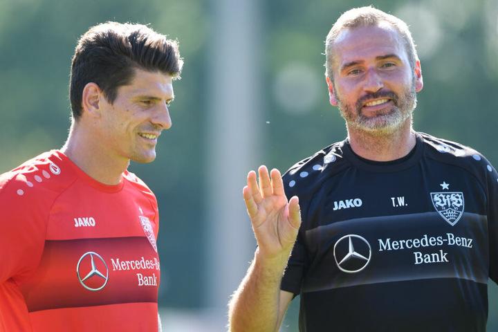 Am Mittwoch trainiert Gomez wieder mit der Mannschaft, so Tim Walter (rechts).