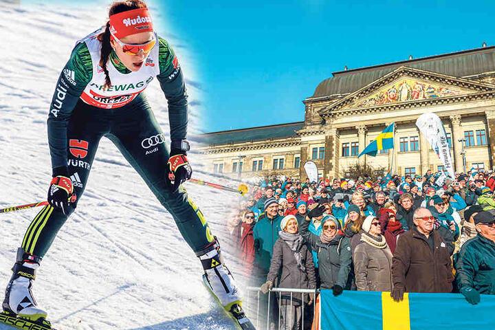 Katharina Hennig war nach dem Finale im Team-Sprint platt, aber überglücklich.