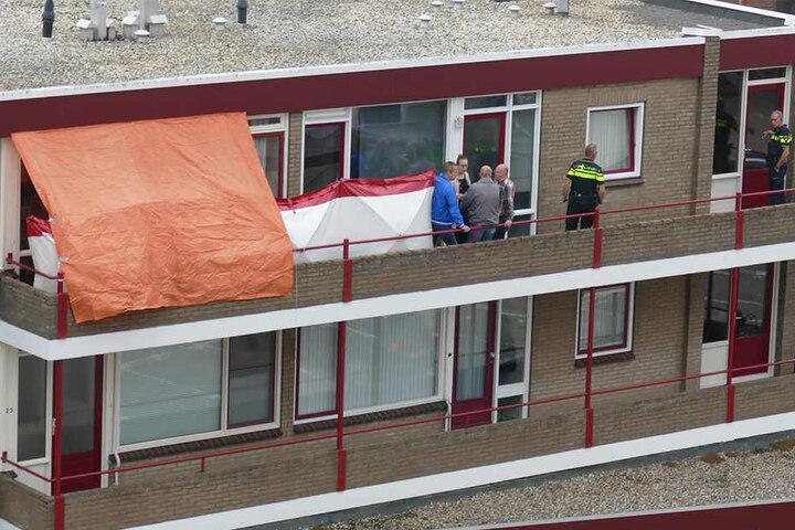 Die holländische Polizei untersuchte Anfang September ihre Wohnung in Emmen.