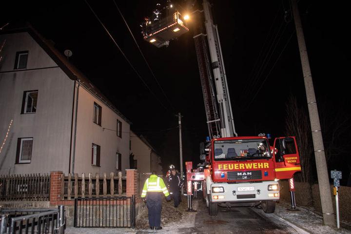 Das Haus konnte noch gerettet werden, bevor es vollständig abbrannte.