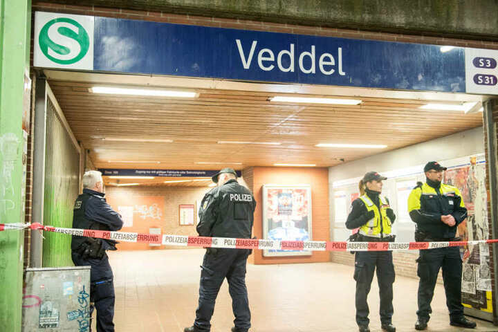Die Tat geschah am S-Bahnhof Veddel in Hamburgs Süden.
