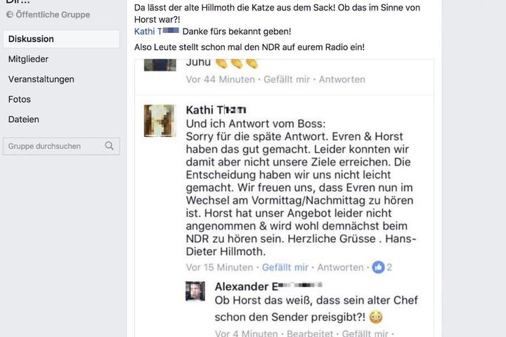 """Screenshot der Facebook-Gruppe """"Horst .....Wir folgen Dir!!!"""" vom 9. August 2017, 11.15 Uhr."""