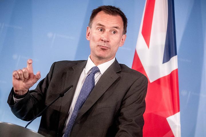 Der britische Außenminister Jeremy Hunt fand den Seitenhieb von Donald Tusk gar nicht komisch.
