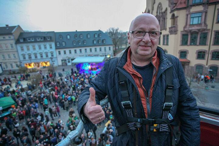 Hofft auf viele Stimmen bei der Vote-Party: Waldheims Bürgermeister Steffen Ernst (62, FDP).
