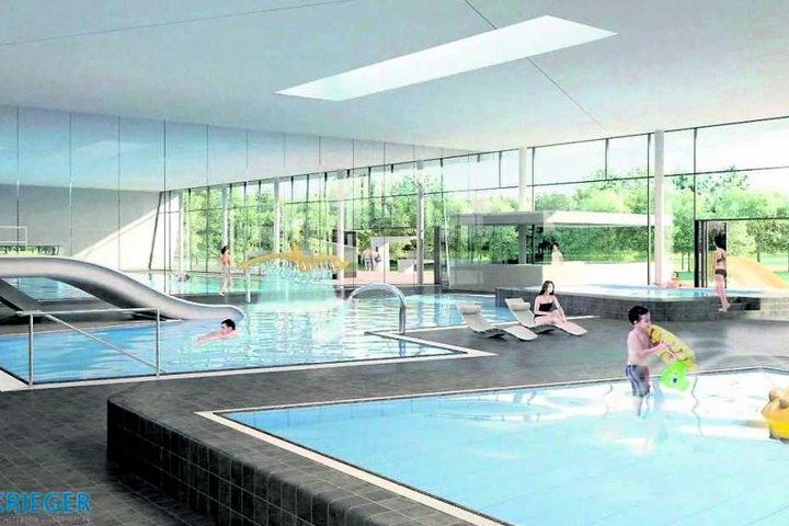 Das neue Bad in Prohlis wird innen topmodern ausgestattet.