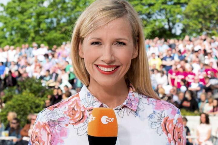 Andrea Kiewel moderiert den ZDF-Fernsehgarten.