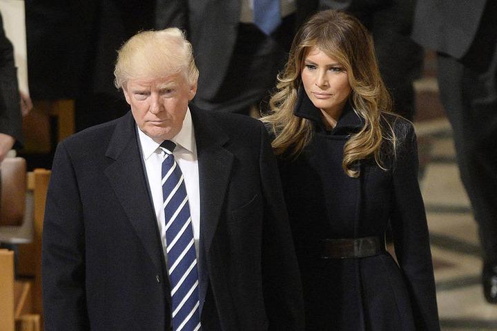 Melania und Donald Trump bei einem Gottesdienst nach seiner Amtseinführung. Dabei wurde das Paar das letzte Mal gemeinsam gesehen.