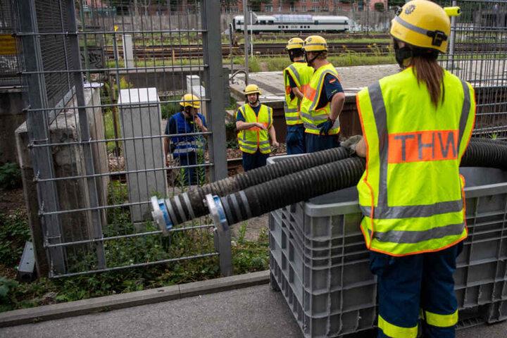 Die Gleise auf der Stammstrecke in München waren auf einer Länge von 150 Metern geflutet.