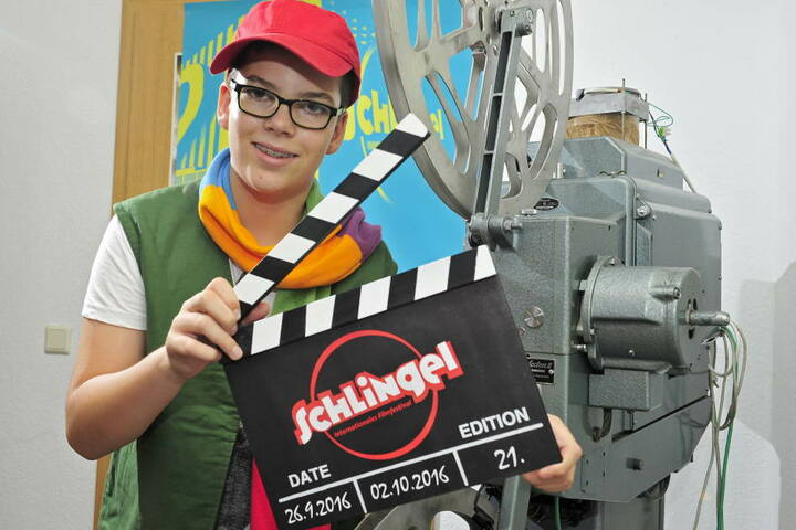 """Sven Leuoth war in diesem Jahr das """"Maskottchen"""" des Kinderfilmfestivals Schlingel."""