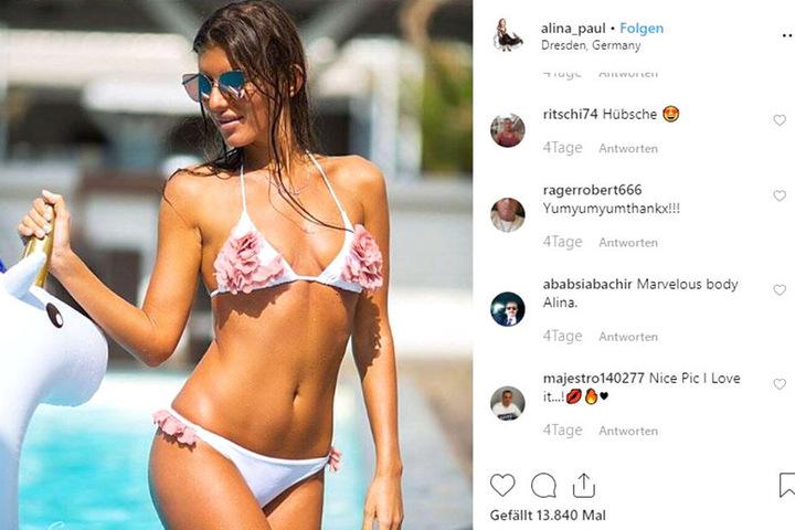 Kein Wunder, dass Alina auf Instagram über 100000 Follower hat - bei dieser Bikini-Figur. Doch von nix kommt nix: Alina geht zwei mal pro Woche ins Fitnessstudio.