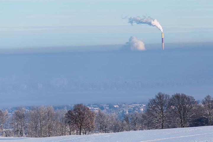 Schnee, Kälte und Nebel. Chemnitz ist fest in der Hand von Minusgraden.