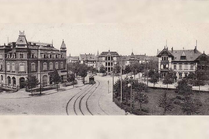 Ein Bild aus dem Jahr 1905 mit Blick vom Wasaplatz in die Wasastraße.