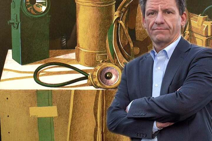 Rathaus-Sprecher Mathias Merz freut sich auf die Wismut-Ausstellung in der  Domhofgalerie. Beginn ist Sonntag.